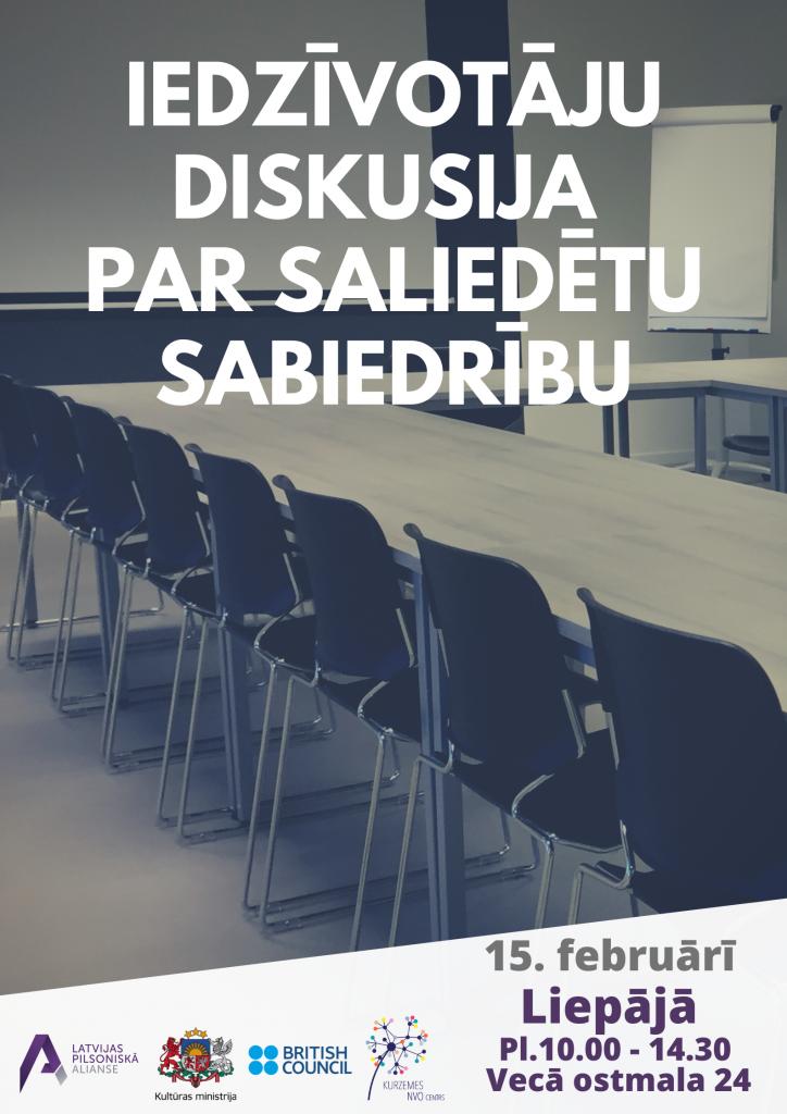 Aicina piedalīties diskusijā par saliedētu sabiedrību Liepājā 15.02.