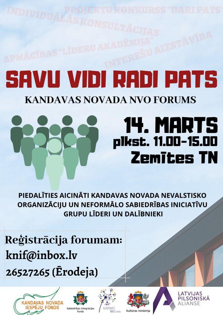 "Kandavas novada NVO forums ""Savu vidi radi pats"""
