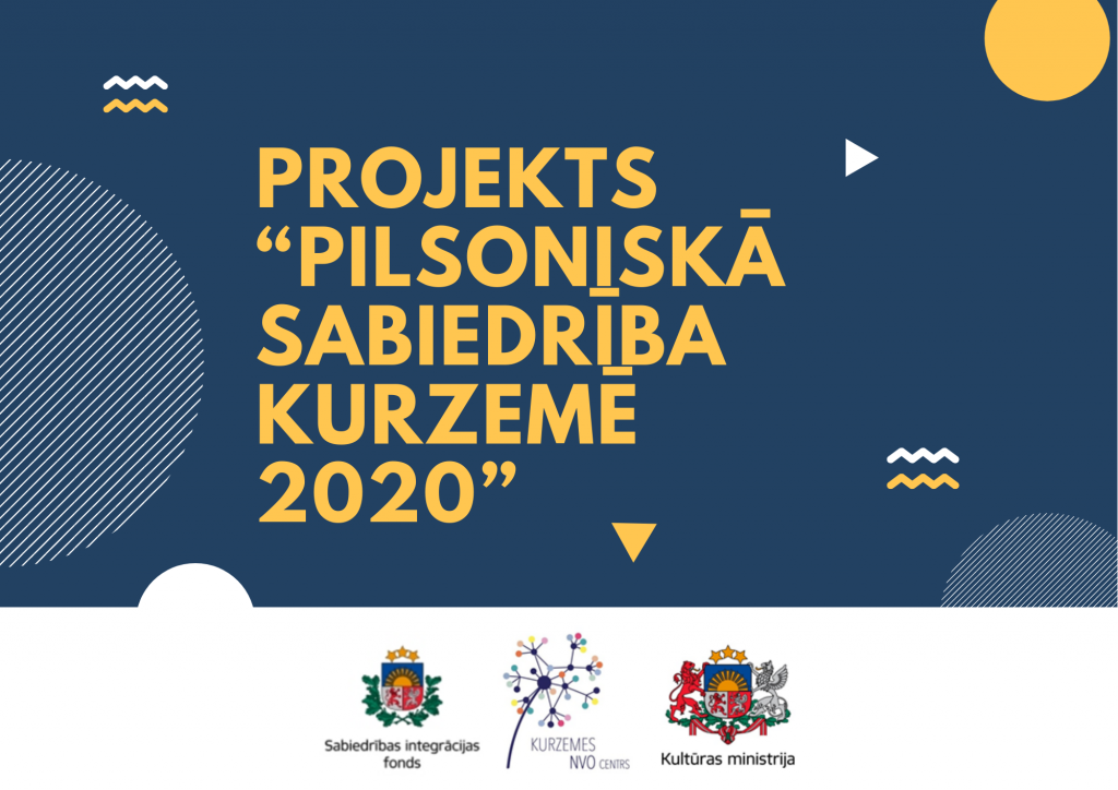 """Kurzemes NVO centrs realizē projektu """"Pilsoniskā sabiedrība Kurzemē 2020"""""""
