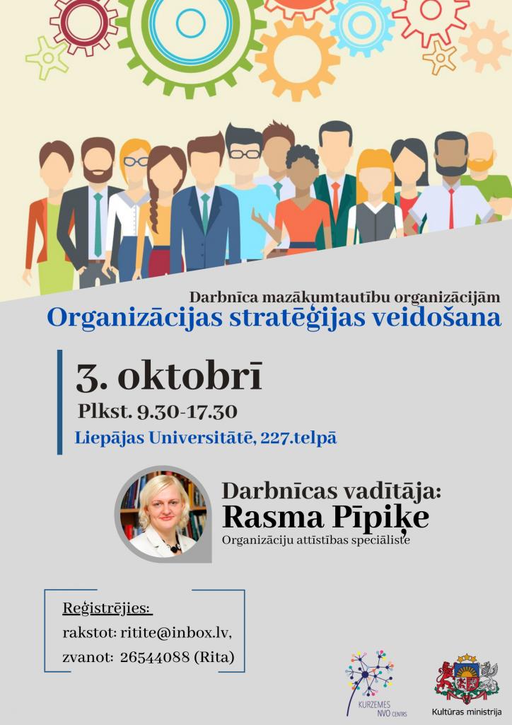 Darbnīca mazākumtautību organizācijām par organizācijas stratēģijas veidošanu