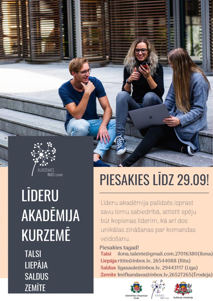 Kurzemes NVO centrs aicina piedalīties Līderu akadēmijā