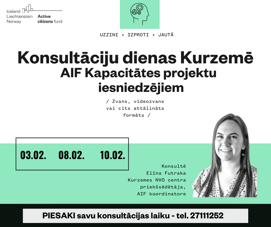 Pieejamas konsultācijas par AIF Kapacitātes projektu konkursu